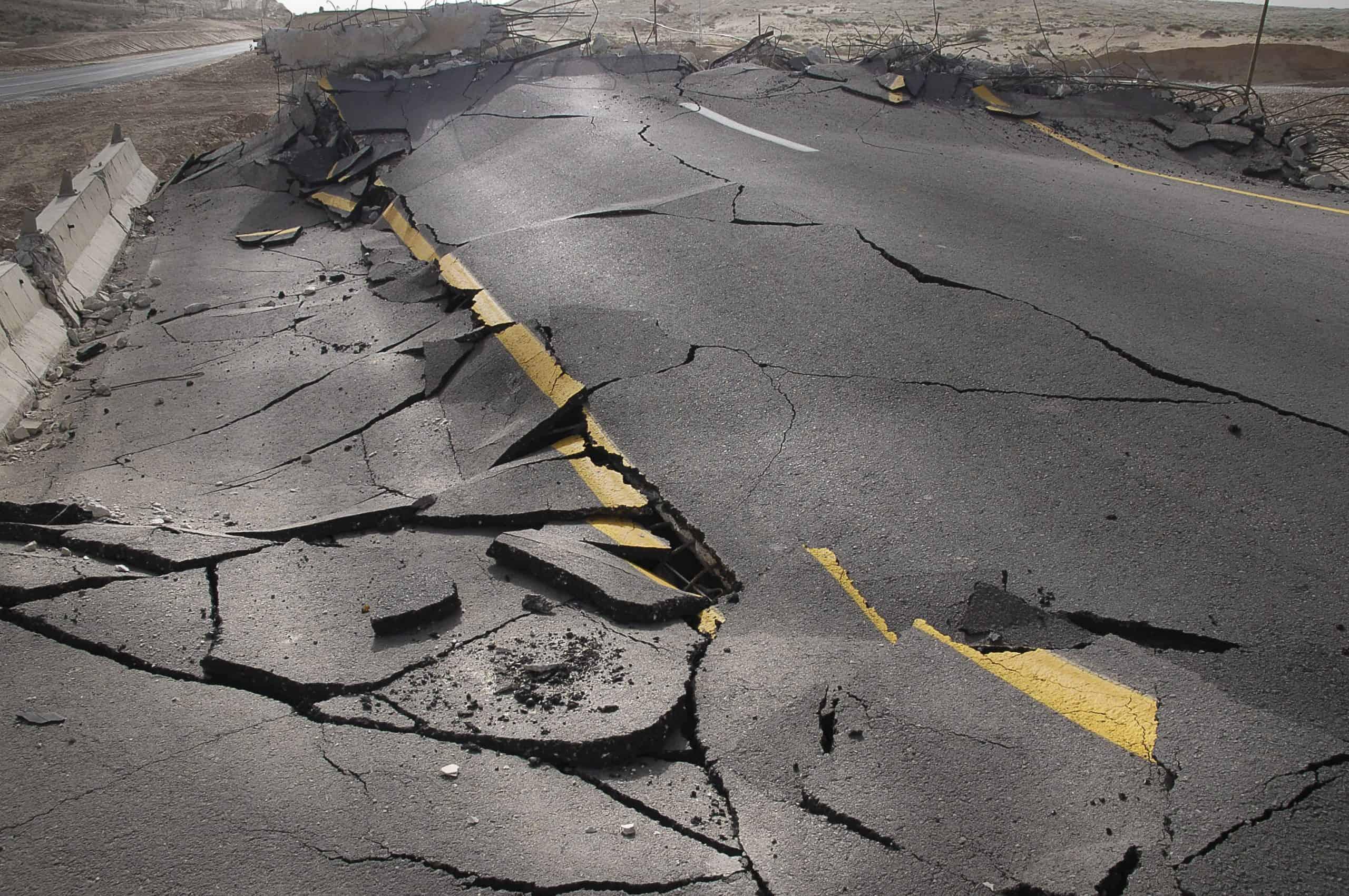 potres cesta